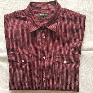 ZARA MAN Long Sleeve Pearl Snap Shirt!   L